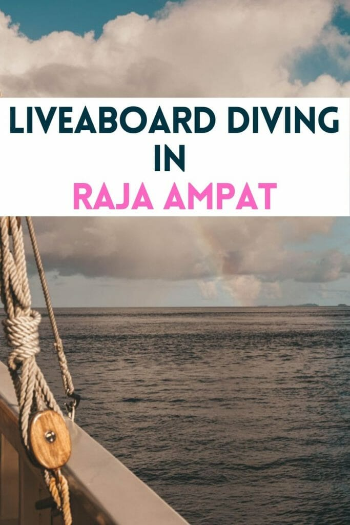 pin for raja ampat liveaboard
