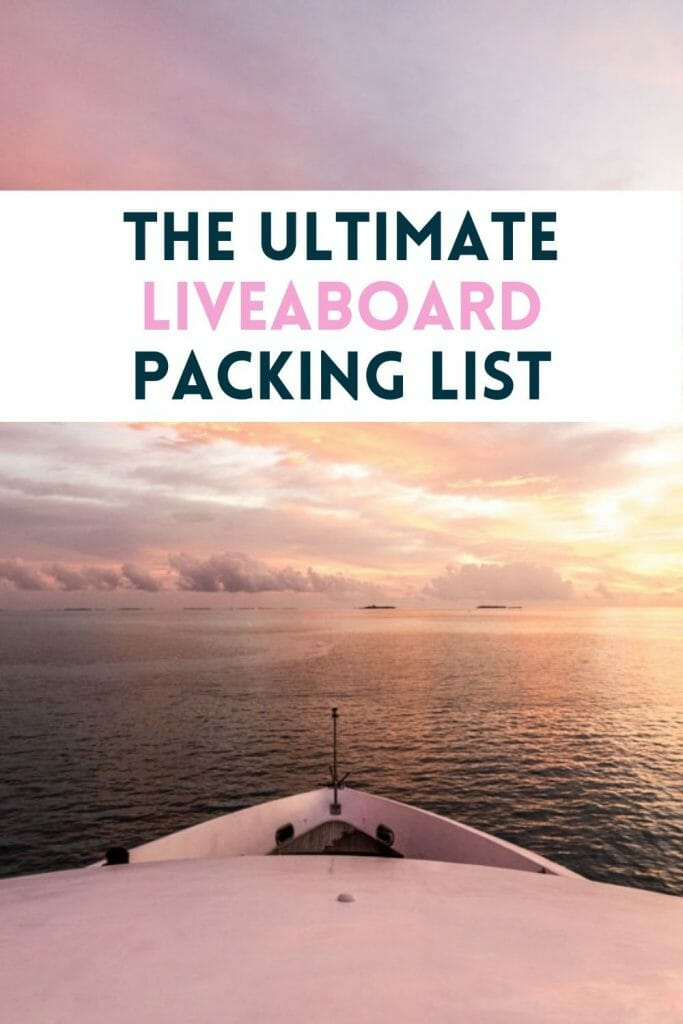 Pin for Liveaboard Packing List