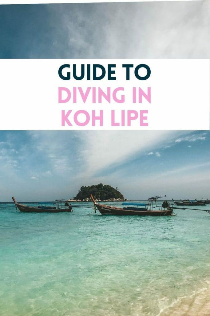 pin for diving in Koh lipe