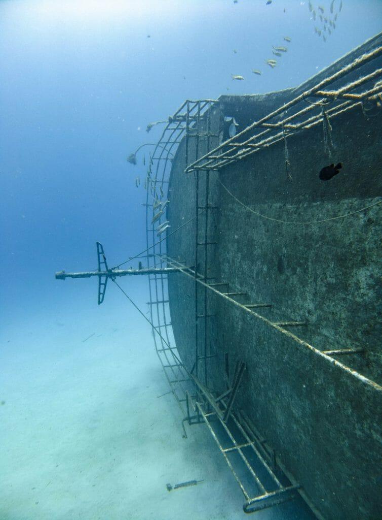 Catamawar Wreck in Mauritius