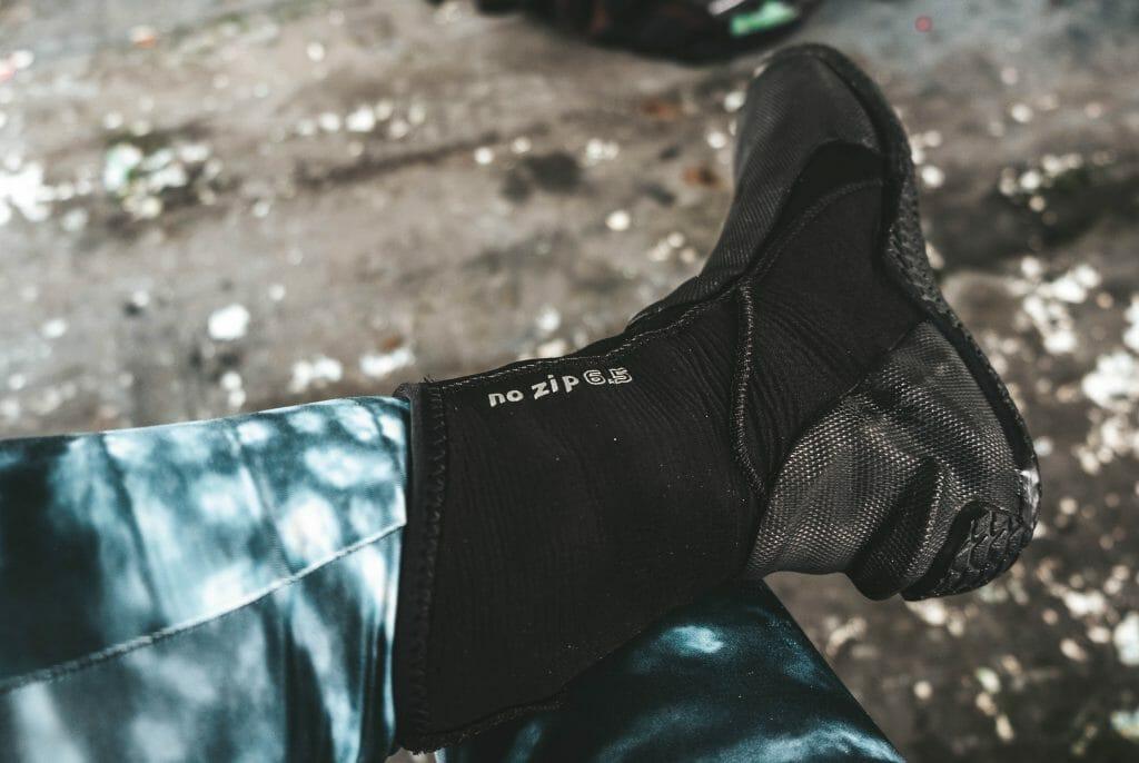 Foot wearing Scubapro bootie
