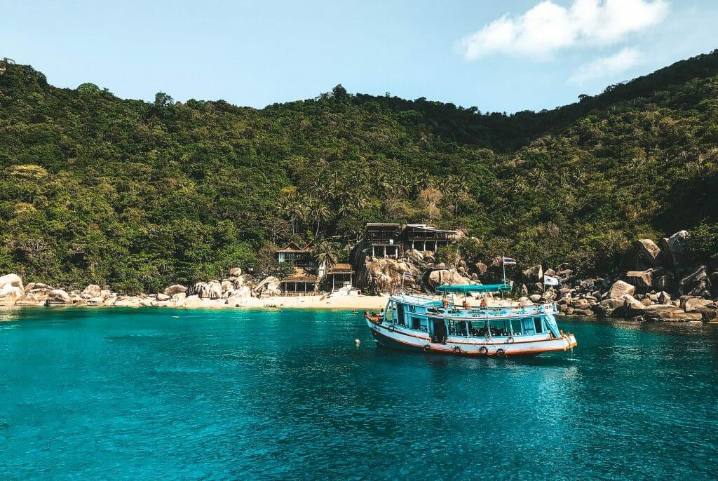 Dive boat in Mango bay, Koh Tao