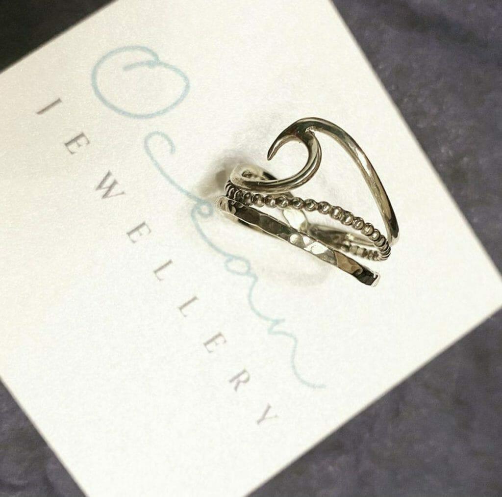 Ocean jewellery ring