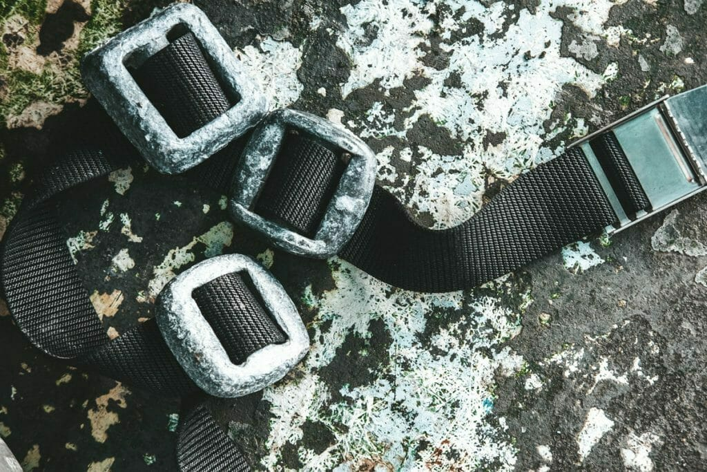 Weight belt with weights
